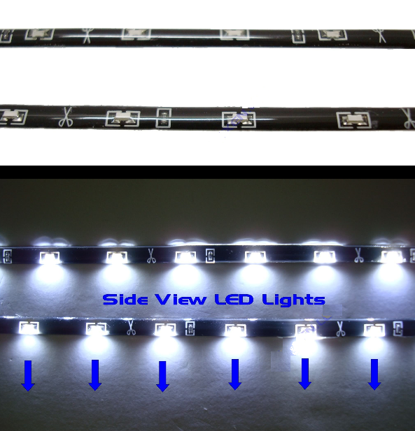 side-shine led strip van auto led plaza