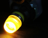 (new) W5W T10 1W highpower glow-head LED geel/amber_