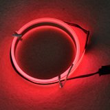 12V Neon EL-strip rood_