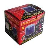 Zwaailicht LED 12V DC Oranje met magneet en 12V plug_