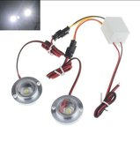 2x 3W LED flash strobe modules Wit_