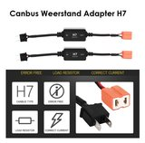H7 canbus led verlichting weerstand plug and play 2st_