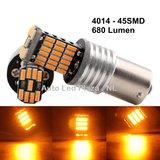 HOT: BA15S 45x 4014SMD LED oranje_