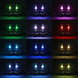 H4 LED dimlicht + RGB Demon eyes incl Bluetooth bediening_