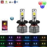HB4 9006 LED dimlicht + RGB Demon eyes incl Bluetooth bediening_