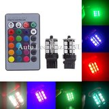 2x T20 7440 27 leds RGB 5050SMD LED incl, remote controll_