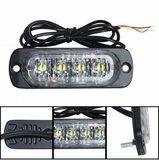 4x 3W highpower flash signalering module oranje 12v/24v slimline model _