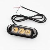 3x 3W highpower flash signalering module oranje 12v-24v opbouw model_
