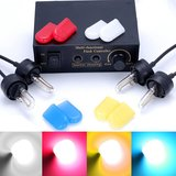 4x 12V HID stroboscoop lampen incl. 4x2 kleur kousjes_