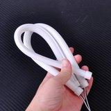 Flexibel siliconen helder ROOD LED tube 17CM incl. montage clips _