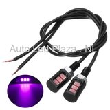 Universeel 3x5730SMD LED interieur sfeer licht Roze Lila_