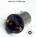 BA15S naar T10 W5W fitting_