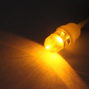 T10 W5W 1x LED bol licht : Geel