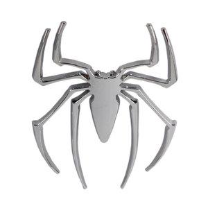 3D spider sticker zilver 11cm x 9 cm