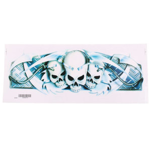 Skull heads sticker 41cm x 15cm