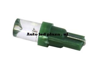 T5 1 LED groen plat