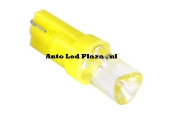 T5 1 LED geel plat