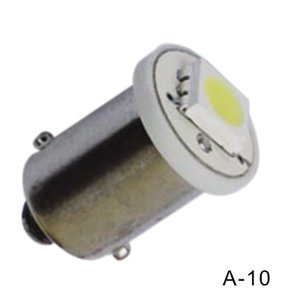 BA9S / H6W 1 LED SMD 5050 geel/amber
