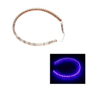 48cm 48 LED Flexibel Strip Licht blauw