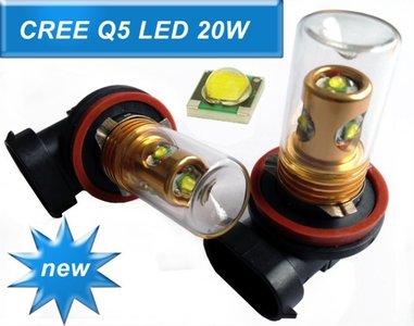 HB3 9005 CREE-LED 20W mist licht 9-30V (Dagrijverlichting / breedstraler)