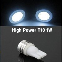 T10 W5W 1x 1W COB LED high power Xenon wit