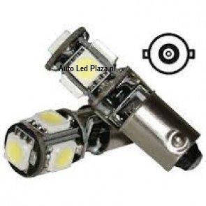 BA9S 5 SMD LED bajonet fitting CanBus (per/st)