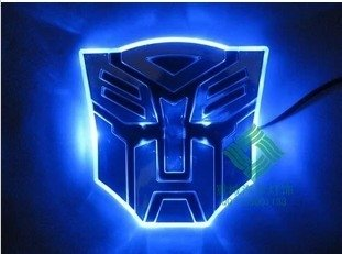 Transformers Optimus Prime LED badge blauw