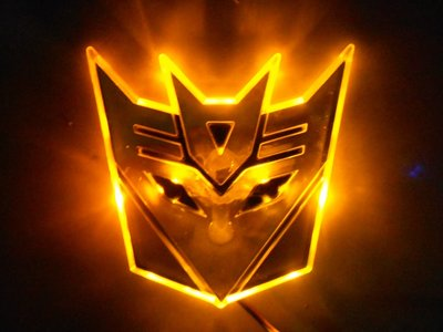 Transformers Septicon LED badge geel