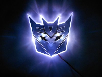 Transformers Septicon LED badge wit