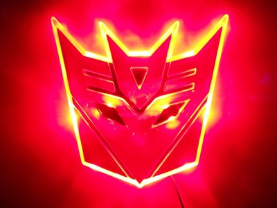 Transformers Septicon LED badge rood