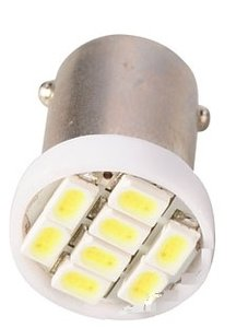 BA9S 8st 1210SMD LED GEEL/AMBER