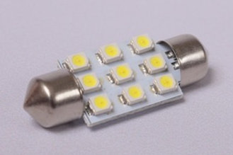9st 1210 SMD LED festoon 39mm Kleur : Wit