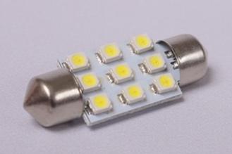 9st 1210 SMD LED festoon 39mm Kleur : Rood