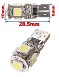 T10 5X 5050SMD Canbus LED non polarized