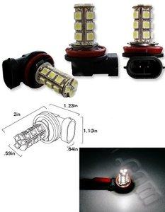 H11 18X 5050SMD LED Wit (Dagrijverlichting / breedstraler)