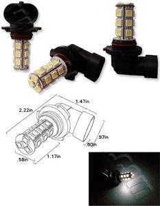 9005 18X 5050SMD LED Wit (Dagrijverlichting / breedstraler)