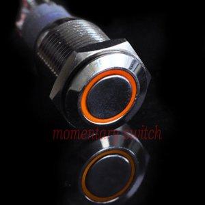 12V LED druk schakelaar 16mm angle eye oranje
