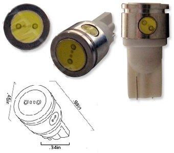 T10 W5W 2,5Watt COB high power  xenon wit