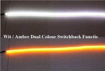 Super DRL LED tube 45cm met Wit / Amber Dual Colour Switchback Functie