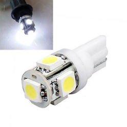 T10 W5W led 5x 5050 SMD LED Wit
