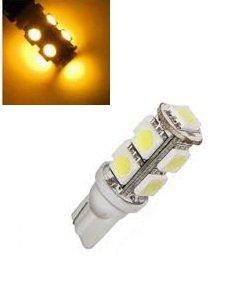 T10 W5W led 9x 5050 SMD LED geel/amber