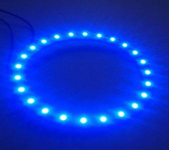 90 mm angel eyes LED ring  24st 3528-SMD Blauw