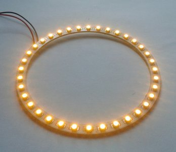 110 mm angel eyes LED ring  36st 3528-SMD Geel/Amber