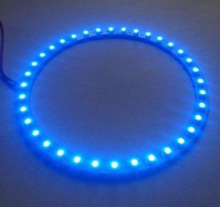 110 mm angel eyes LED ring  36st 3528-SMD Blauw