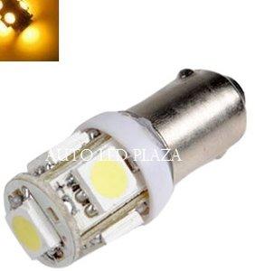 BA9S LED 5X 5050SMD LED Geel / Amber