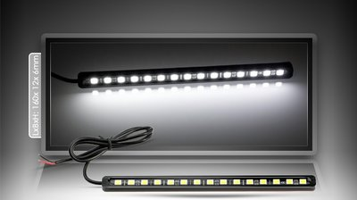 16cm LED Strip met 15x 5050 3-chip SMD LED's, zelfklevend, waterdicht