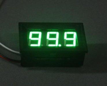 Mini digitale voltmeter 4.5-30V Voltage Panel Meter in Groene LED uitvoering
