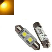 C5W 31MM 2X 5050SMD LED Geel Amber