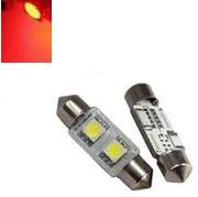C5W 31MM 2X 5050SMD LED Rood