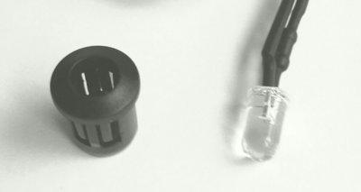 5mm ledhouder inbouw kunstof zwart